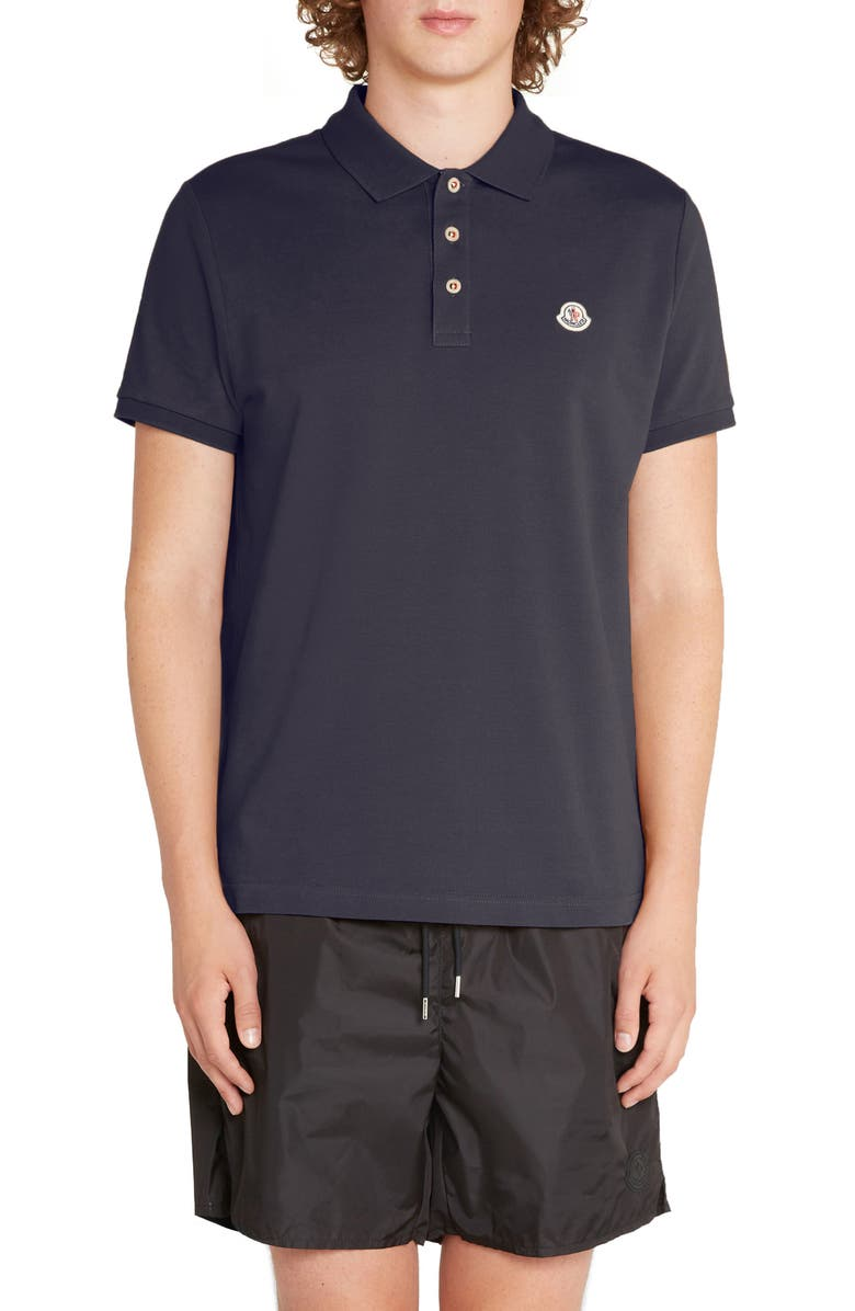 MONCLER Maglia Flag Piqué Polo, Main, color, 429