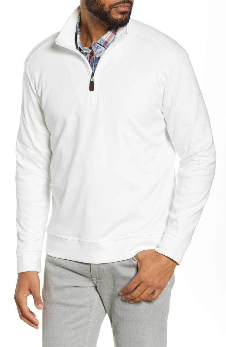 TOMMY BAHAMA Quarter Zip Pullover, Main, color, CONTINENTAL