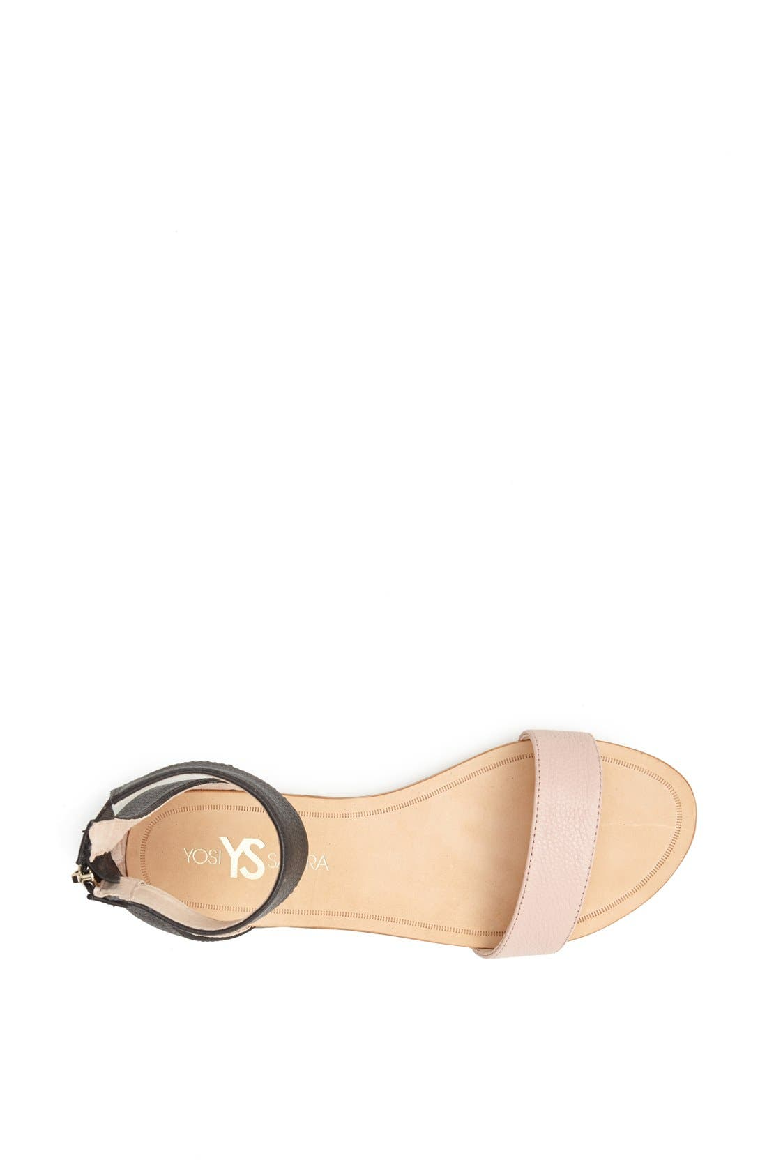 ,                             'Cambelle' Ankle Strap Sandal,                             Alternate thumbnail 3, color,                             001