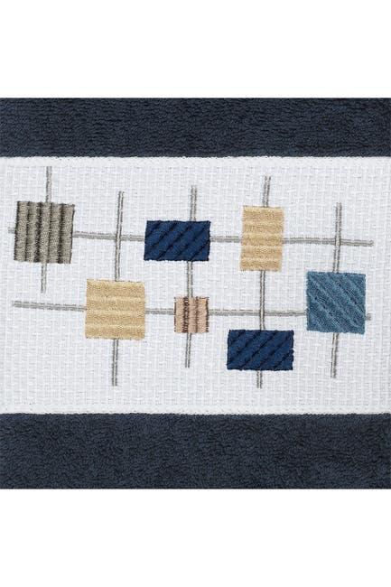 Image of LINUM HOME Khloe Embellished Hand Towel - Set of 2 - Midnight Blue