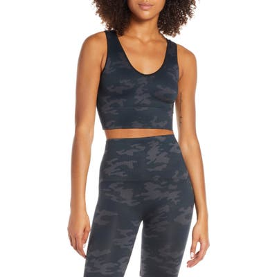 Spanx Look At Me Now Seamless Crop Top, Black
