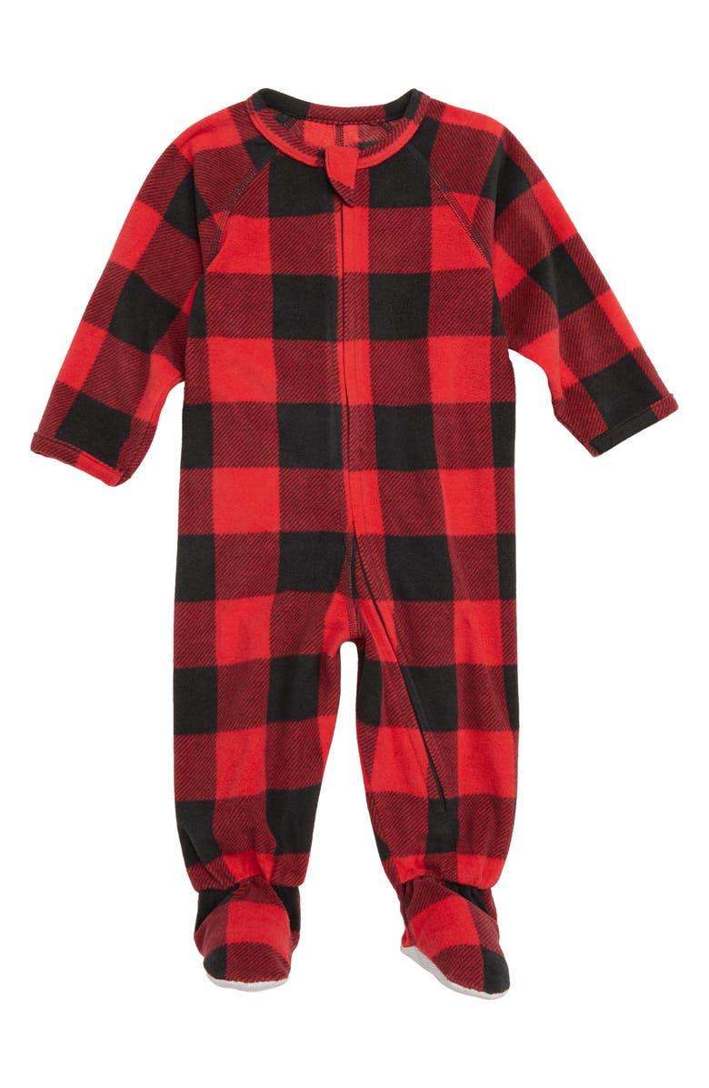 NORDSTROM Plaid One-Piece Pajamas, Main, color, 610