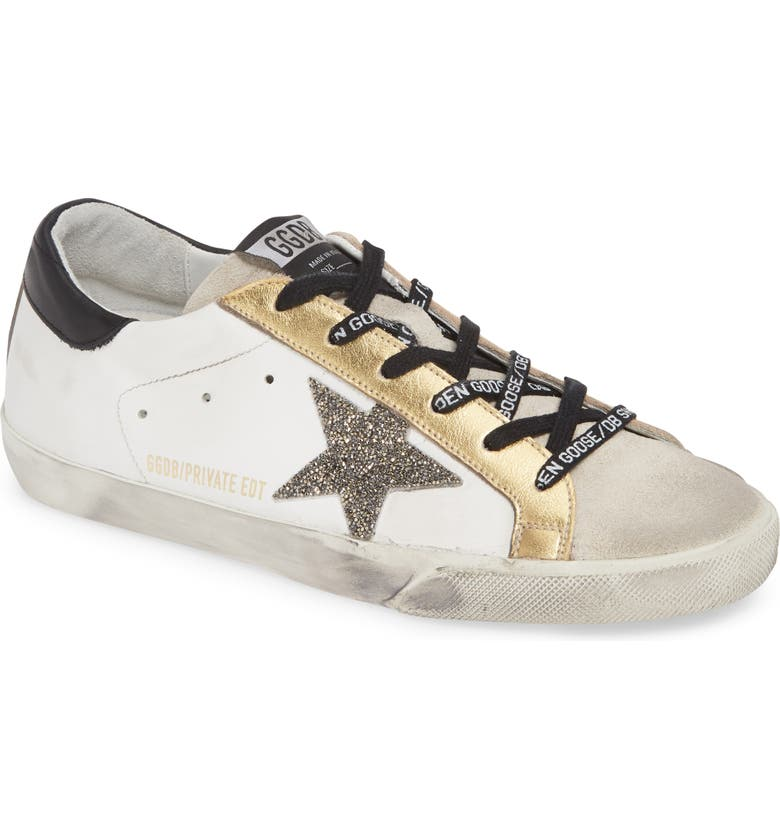 GOLDEN GOOSE Superstar Low Top Sneaker, Main, color, WHITE/ GOLD
