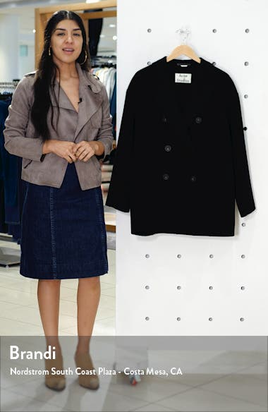 Odine Double Breasted Wool & Cashmere Coat, sales video thumbnail