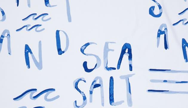 BLUE BOAT SALT SAND AND SEA