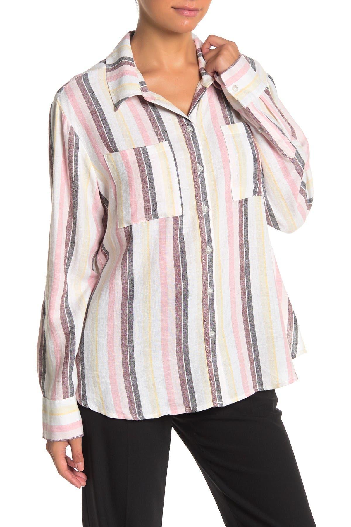 Image of Sanctuary Favorite Boyfriend Linen Blend Shirt