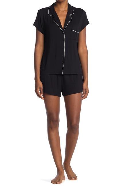 Image of shimera Tranquility Short Sleeve Shirt & Shorts 2-Piece Pajama Set