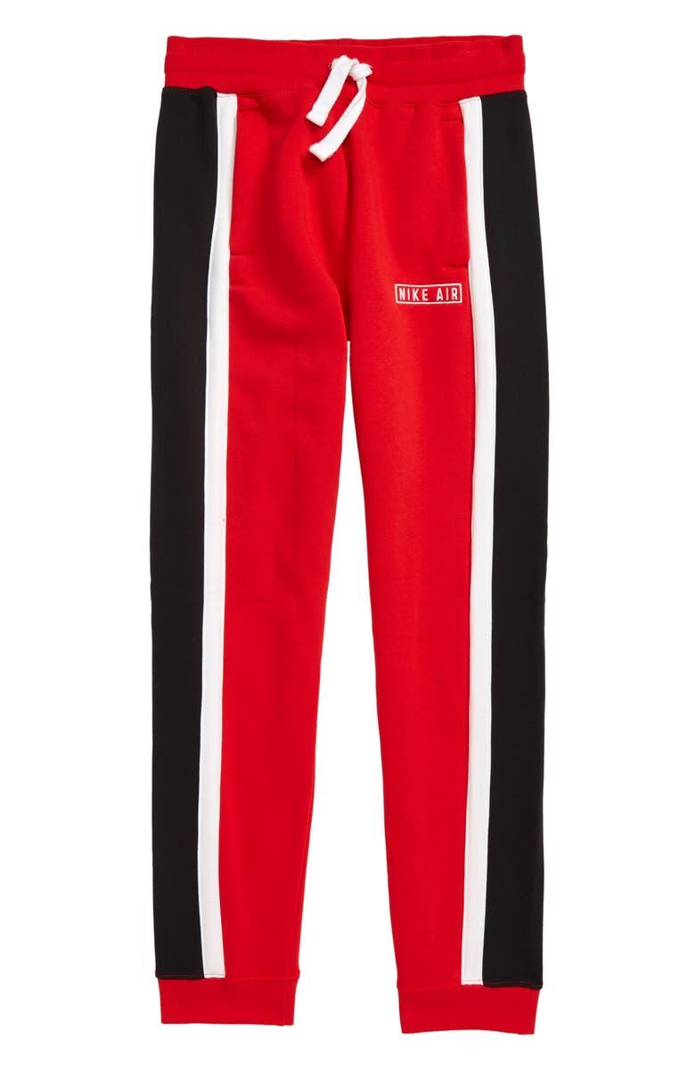 NIKE Air Sweatpants, Main, color, UNIVERSITY RED/ WHITE