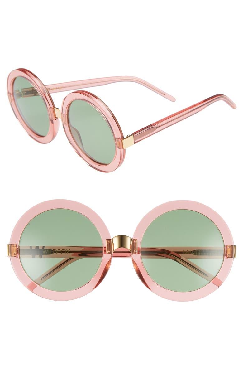 WILDFOX 'Malibu' 56mm Round Sunglasses, Main, color, 690