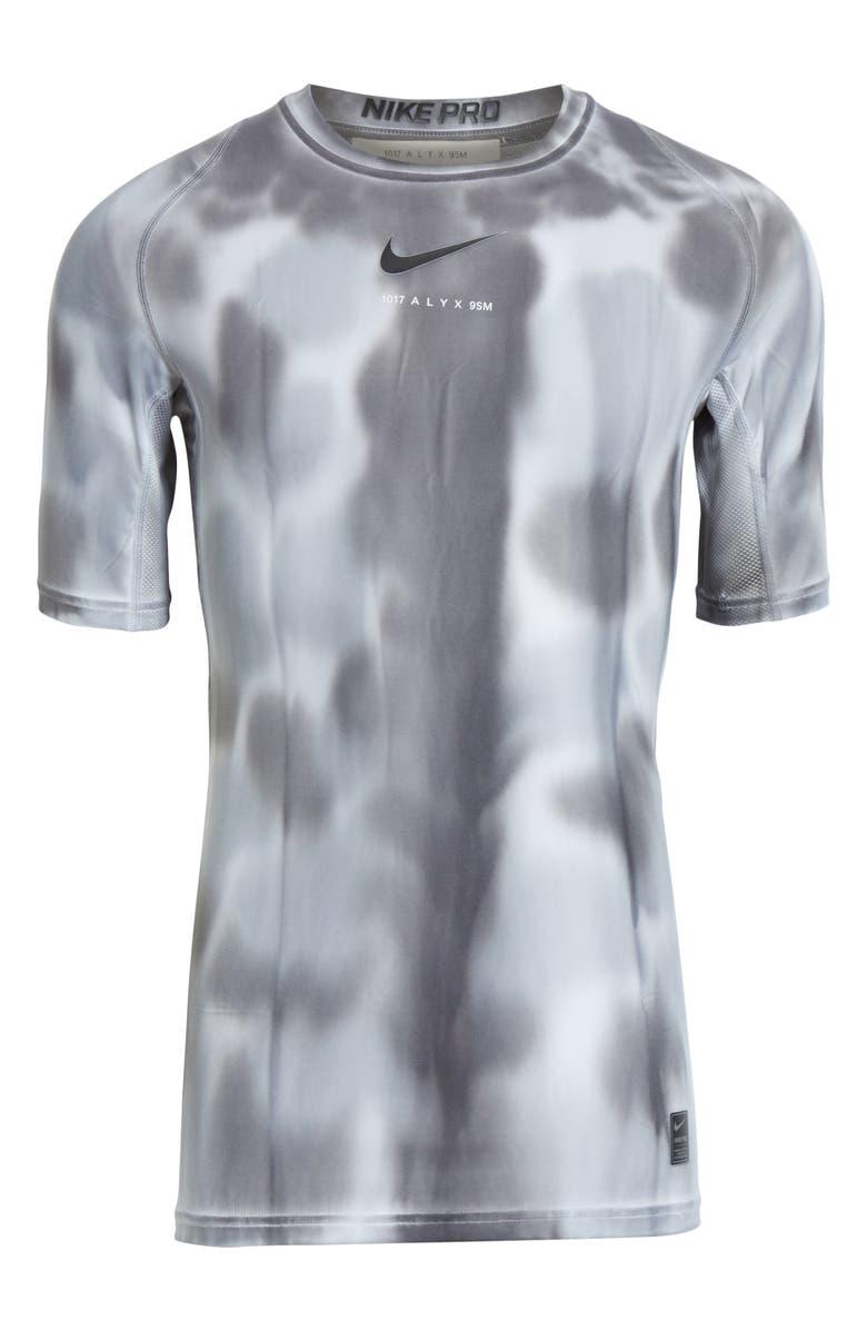 1017 ALYX 9SM x Nike Sponge Camo T-Shirt, Main, color, GREY CAMO