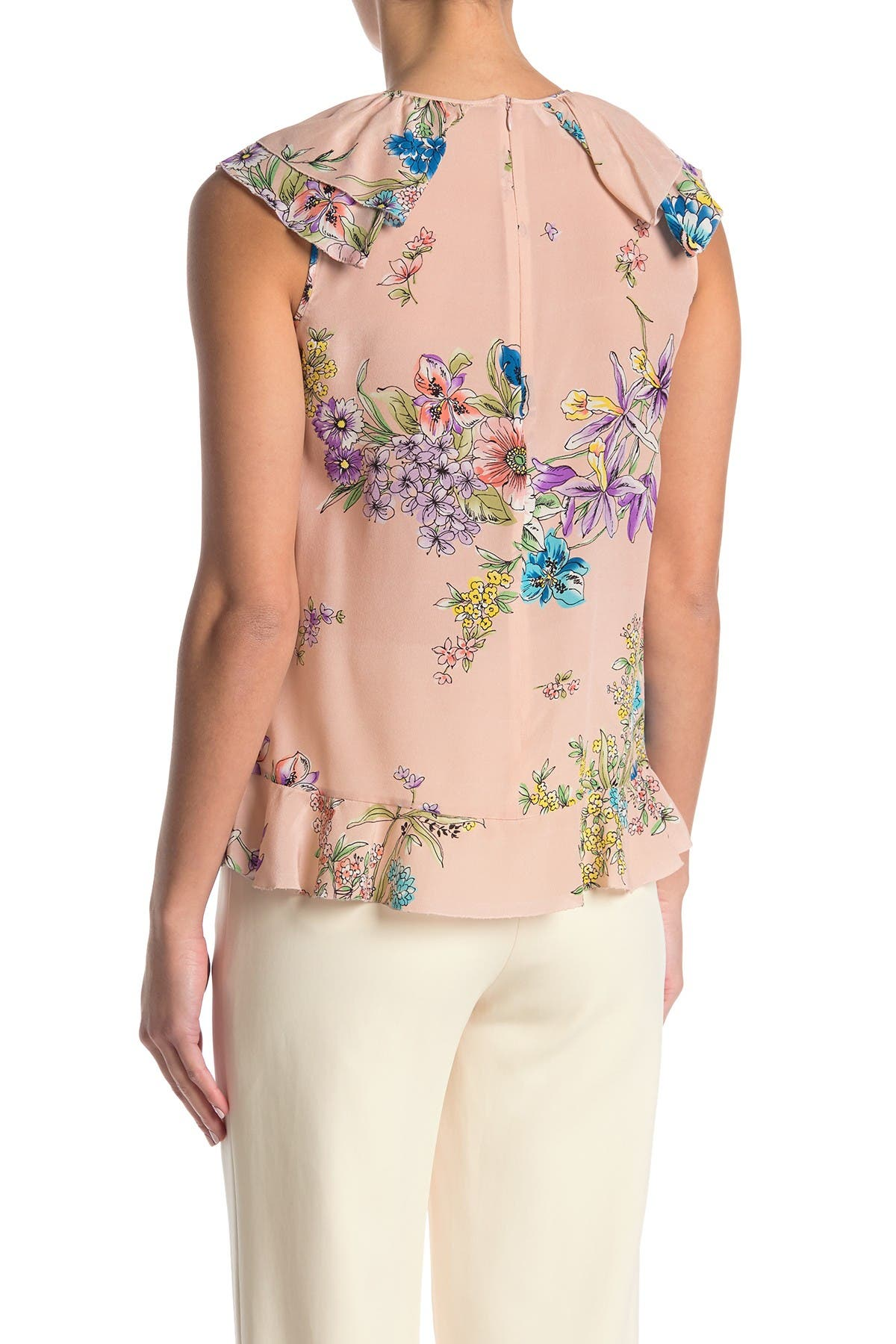 Image of RED Valentino Floral Ruffle Top