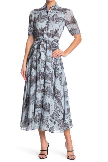 Image of DEREK LAM 10 CROSBY Faye Button Down Maxi Dress