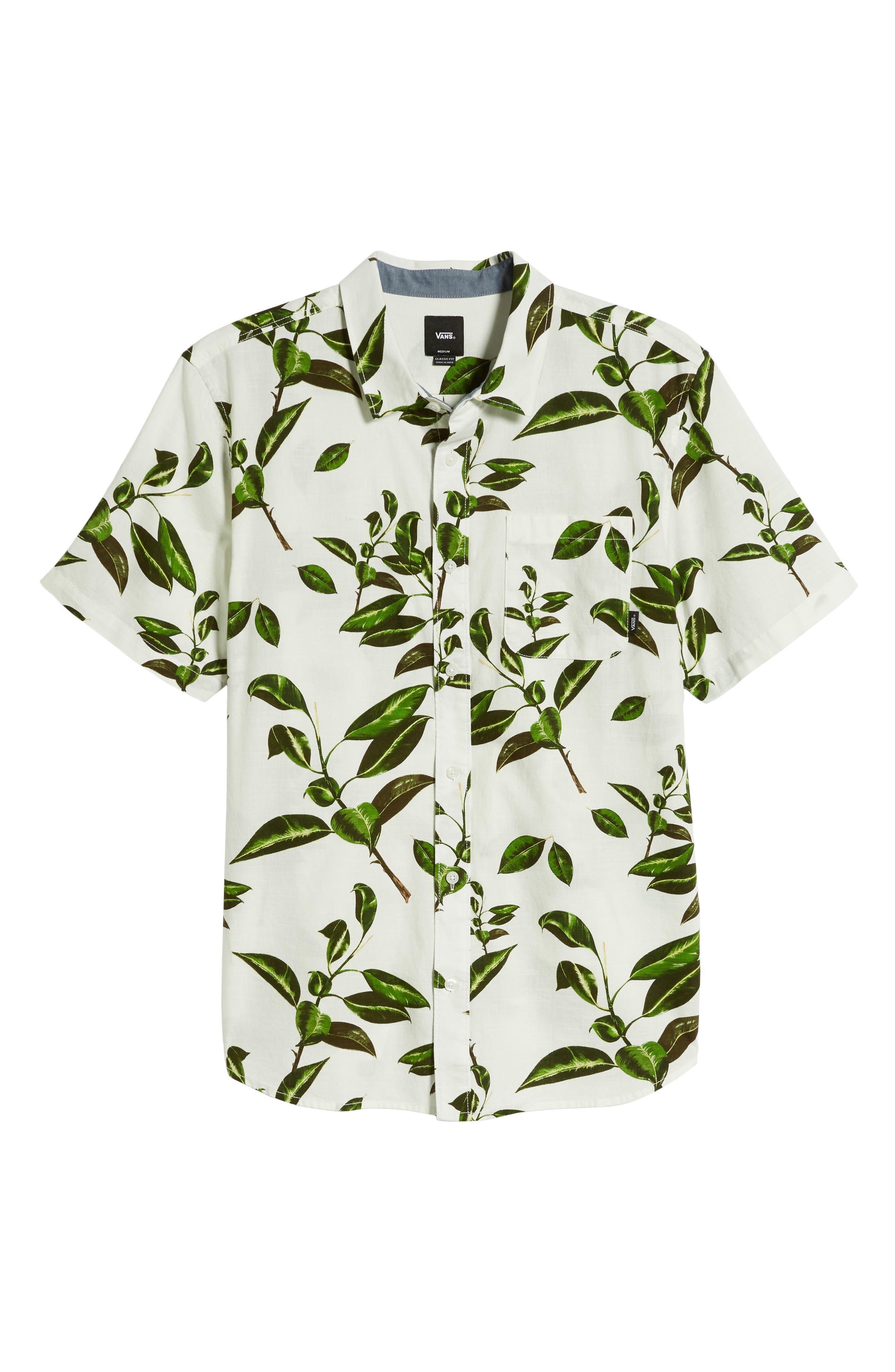 ,                             Rubber Co. Tree Print Woven Shirt,                             Alternate thumbnail 5, color,                             RUBBER FLORAL
