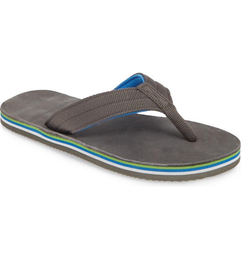 HARI MARI Scouts Flip Flop, Main, color, CHARCOAL/ CHARCOAL
