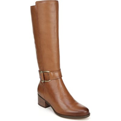 Naturalizer Daelynn Tall Boot, Wide Calf W - Brown