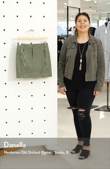 Distressed Denim Miniskirt, sales video thumbnail