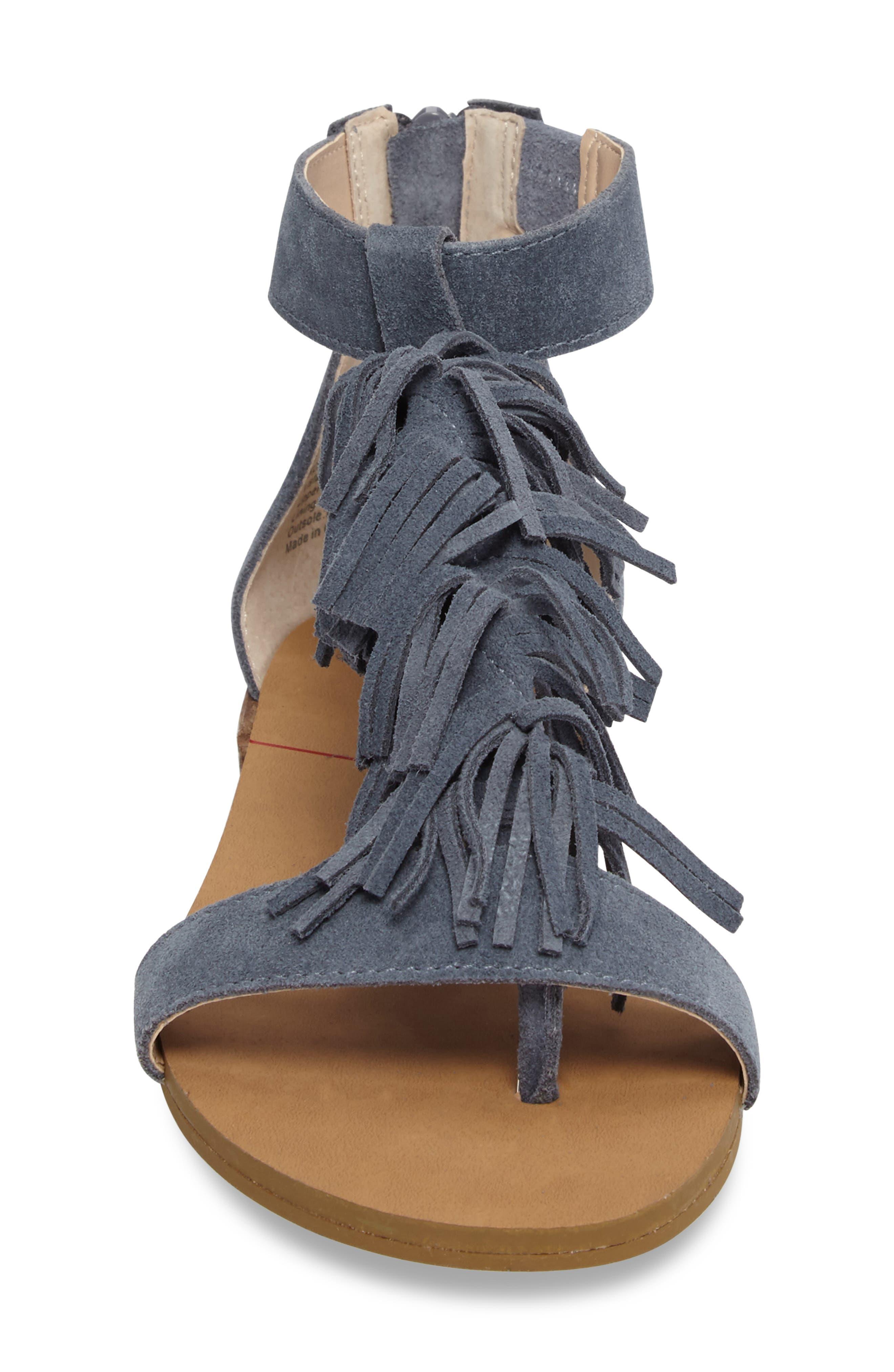 ,                             Koa Fringed T-Strap Sandal,                             Alternate thumbnail 16, color,                             450