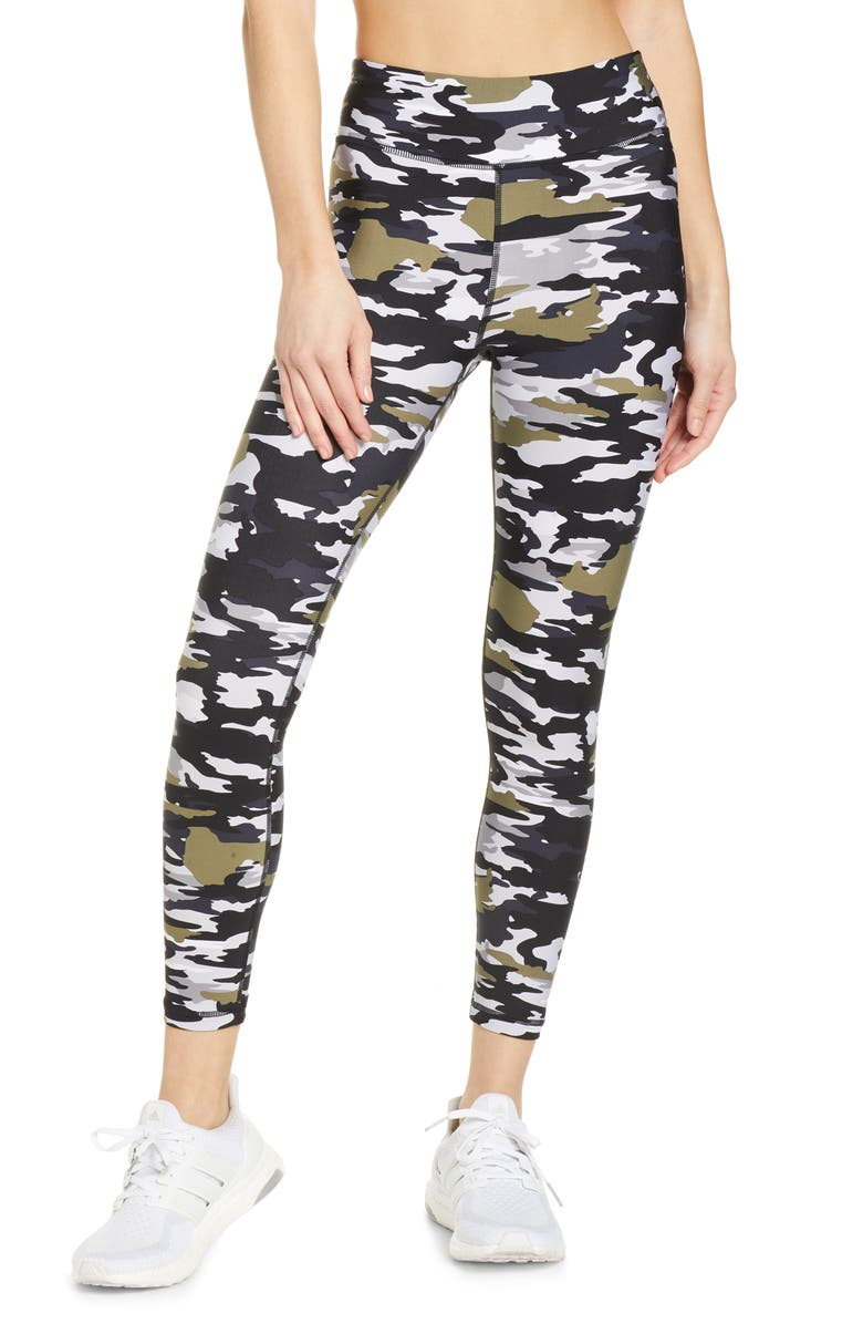 THE UPSIDE Pearl Camo Midi Yoga Pants, Main, color, PEARL CAMO