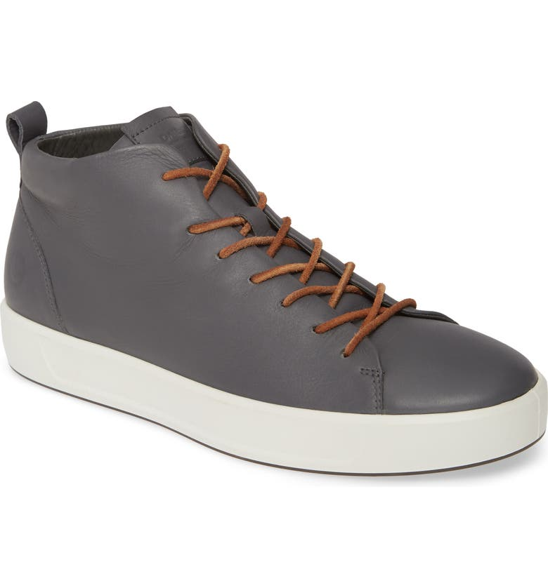 ECCO Soft 8 Mid Sneaker, Main, color, MAGNET LEATHER