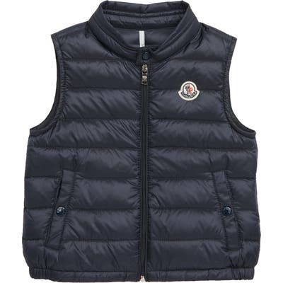 Infant Moncler New Amaury Quilted Down Vest, Blue