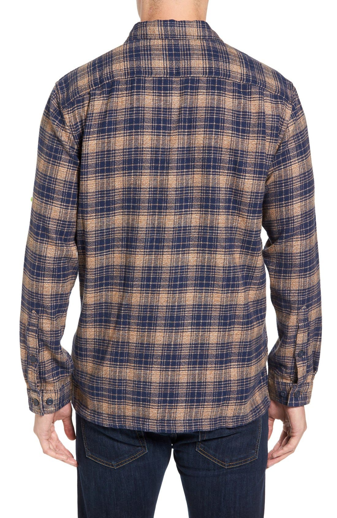 ,                             'Fjord' Regular Fit Organic Cotton Flannel Shirt,                             Alternate thumbnail 117, color,                             408