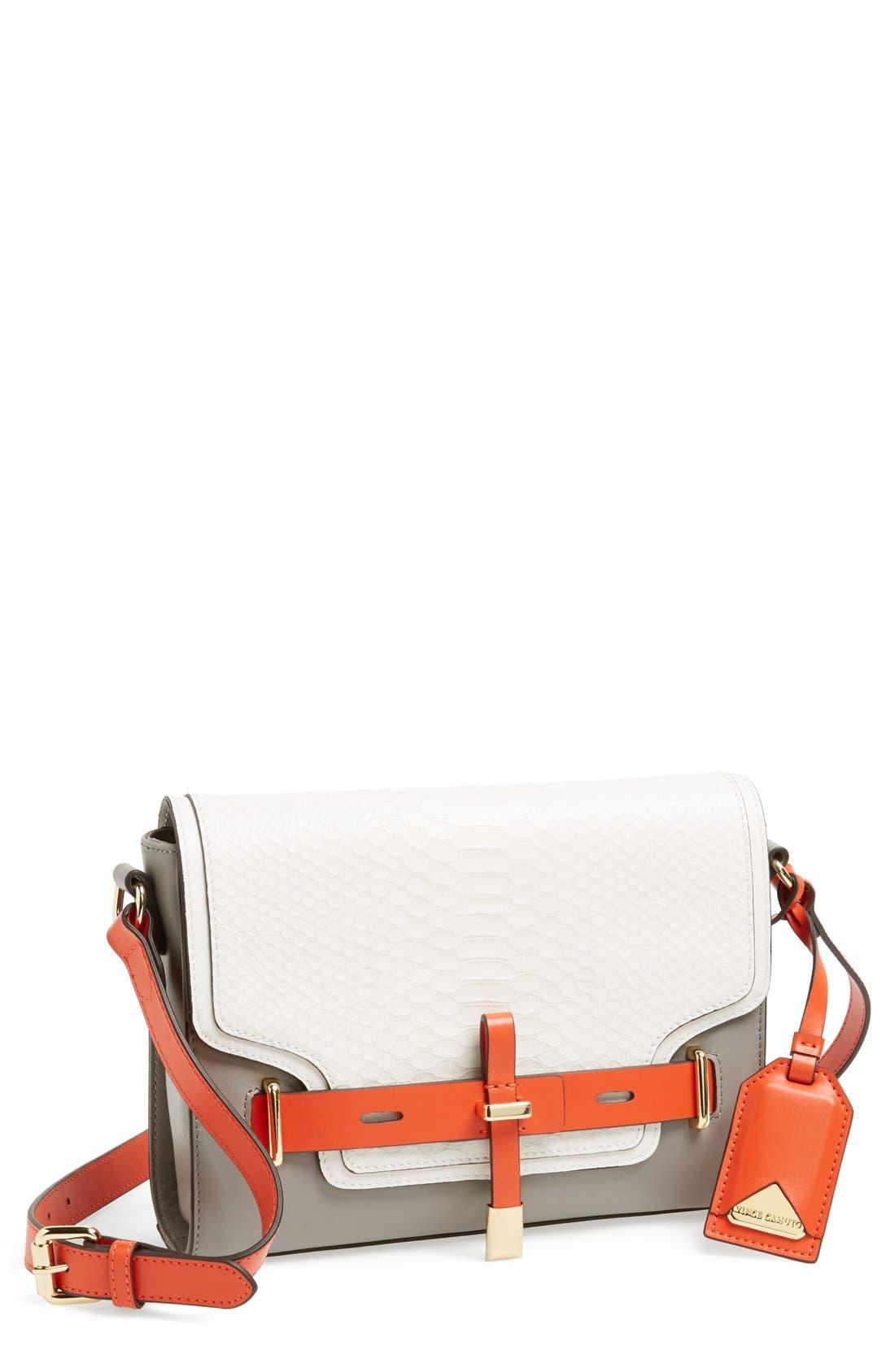 ,                             'Max' Leather Crossbody Bag,                             Main thumbnail 11, color,                             060