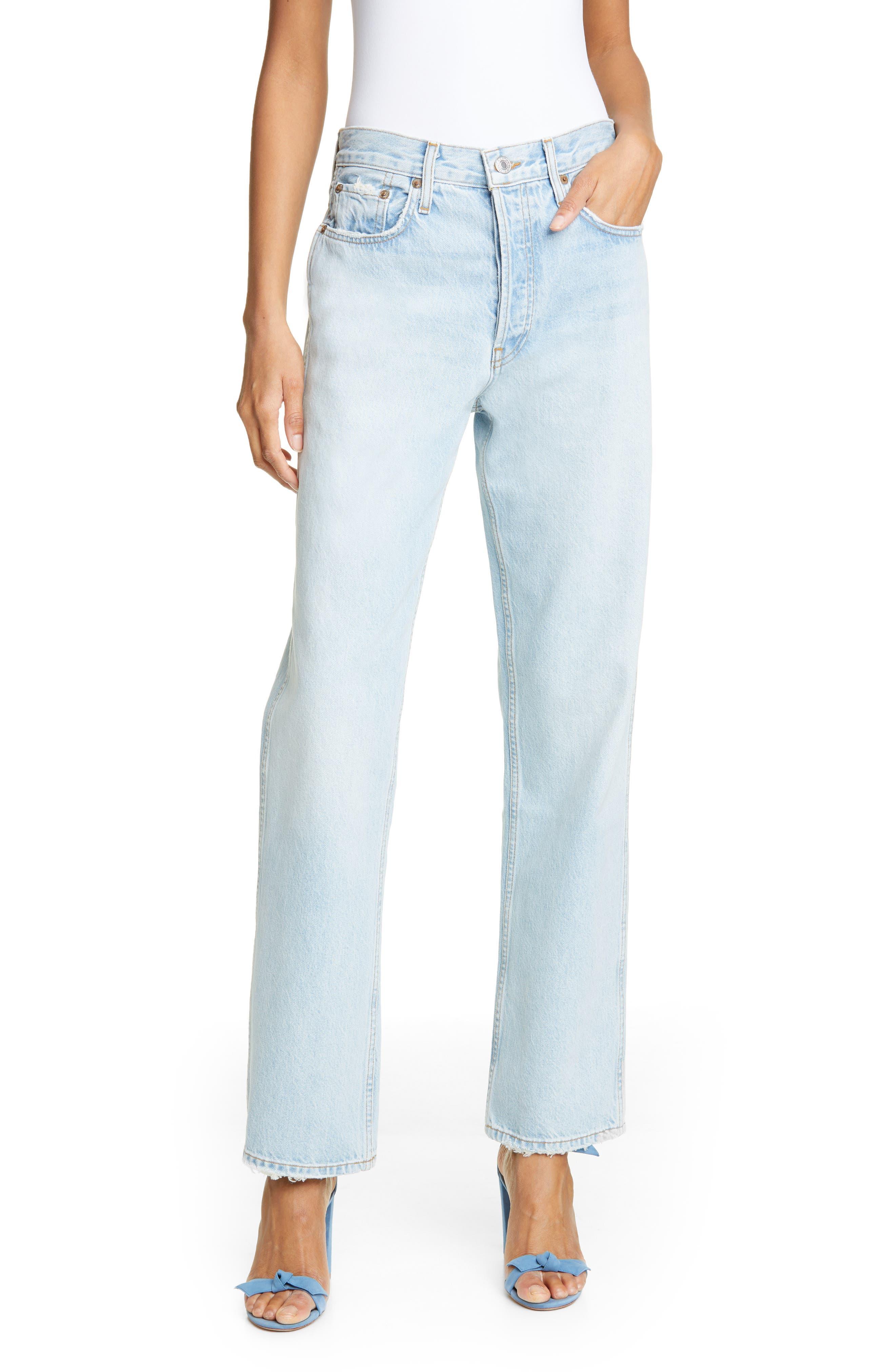Low Slung Jeans, Main, color, LIGHT 04