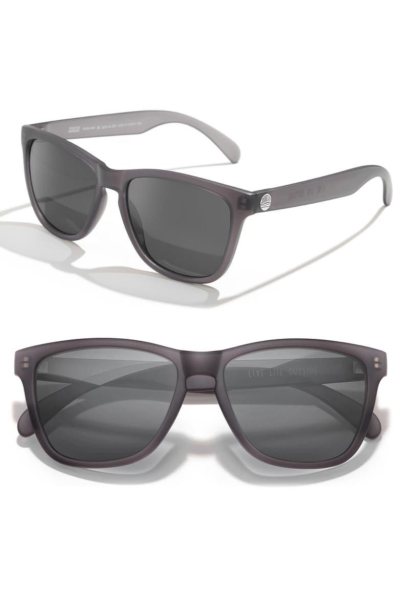 SUNSKI Headland 53m Polarized Sunglasses, Main, color, BLACK / BLACK