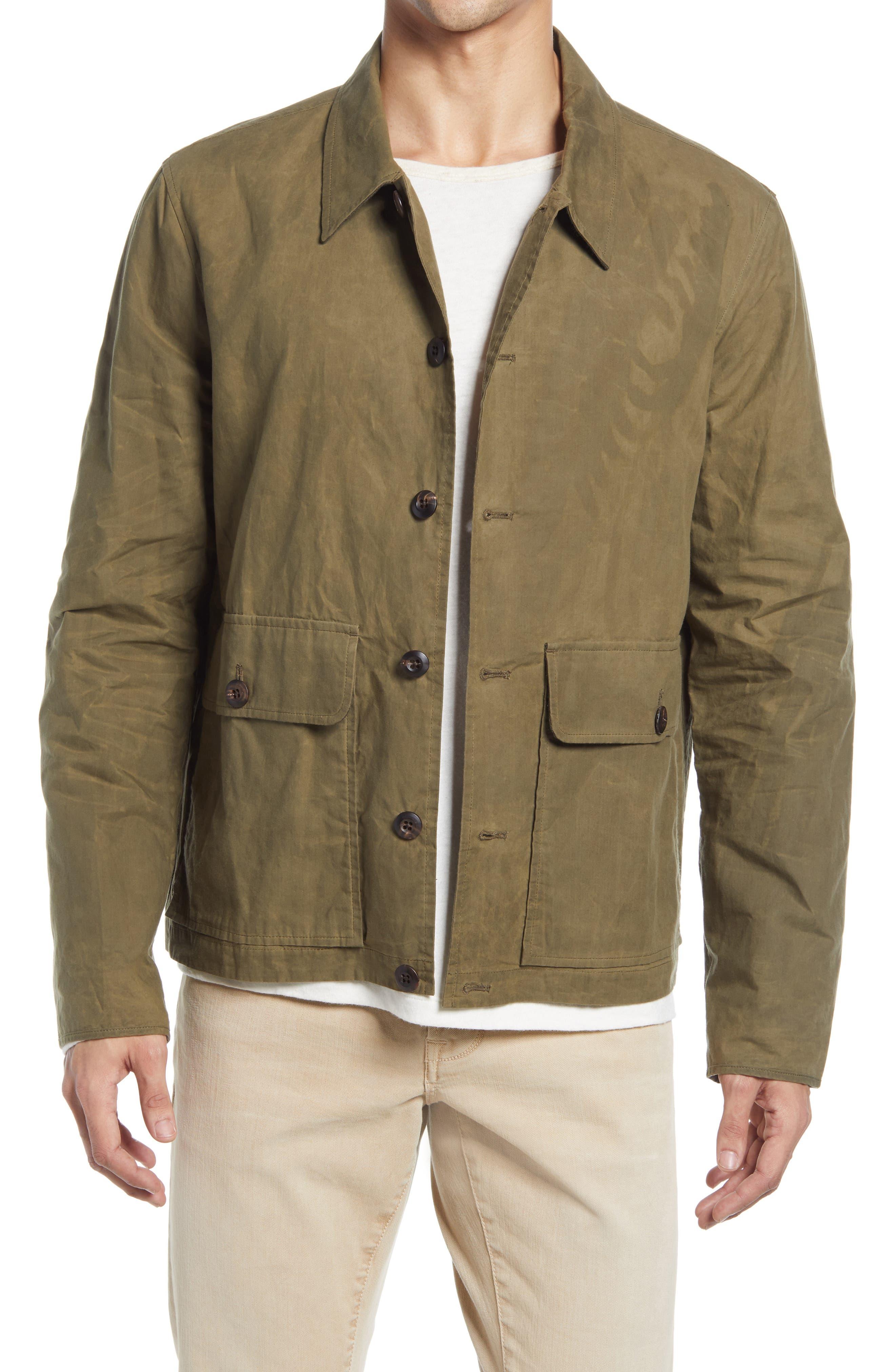 Men's Billy Reid Waxed Cotton Flight Jacket