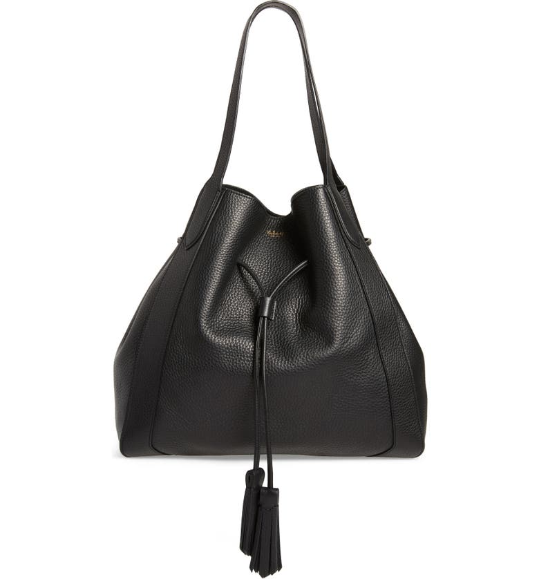 MULBERRY Millie Leather Tote, Main, color, BLACK