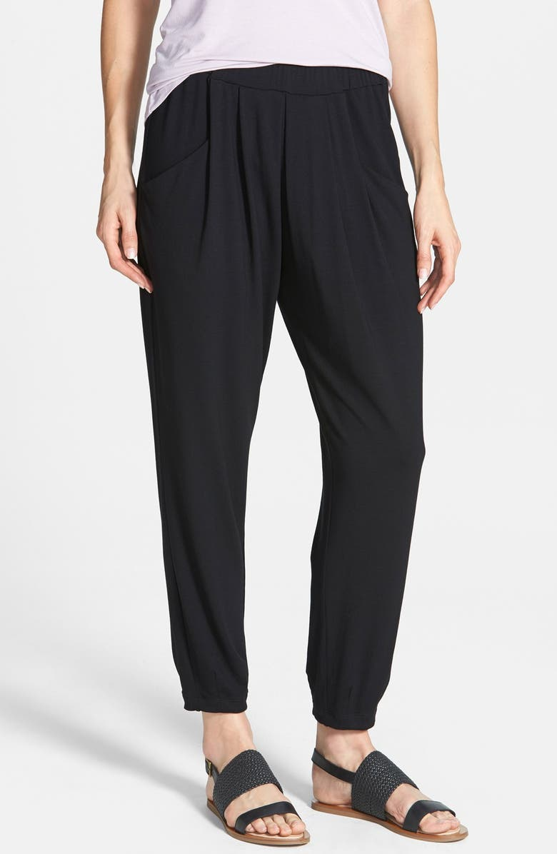 EILEEN FISHER Slouchy Ankle Pants, Main, color, 001