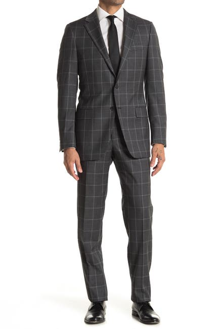 Image of Hickey Freeman Regular Fit 2B Plaid 2-Piece Suit Set