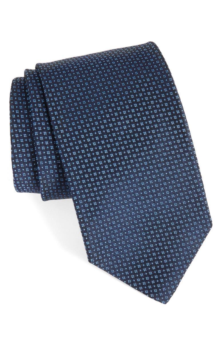 ROBERT TALBOTT Geometric Silk Tie, Main, color, 401