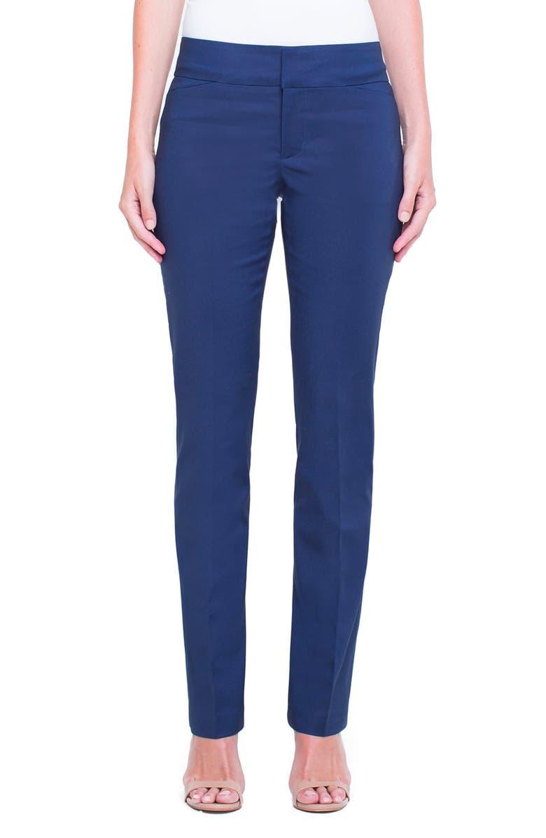 LIVERPOOL Graham Bootcut Pants, Main, color, LONDON NAVY