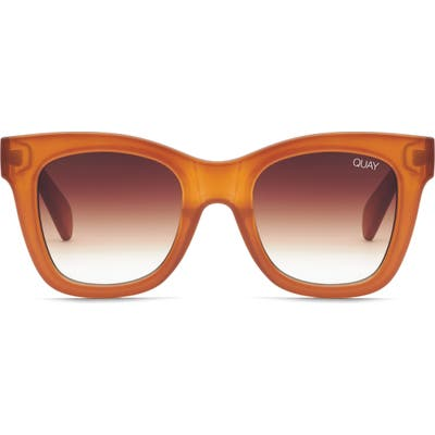 Quay Australia After Hours 50Mm Square Sunglasses - Brown/ Brown