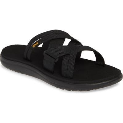 Teva Voya Infinity Water Friendly Slide Sandal, Black