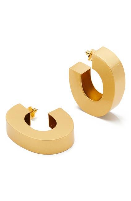 Image of kate spade new york thick hollow hoop earrings
