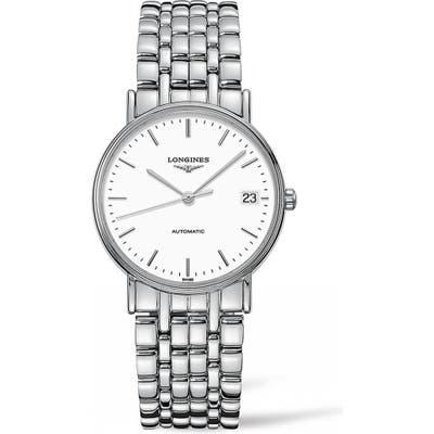 Longines Presence Automatic Bracelet Watch, 34.5Mm