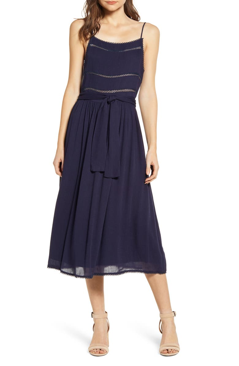 BISHOP + YOUNG Summer of Love Sundress, Main, color, NAVY