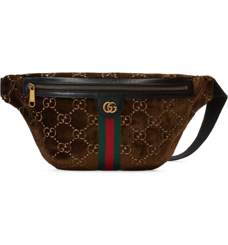 1ef25bdbe5 Gucci GG Supreme Velvet Belt Bag   Nordstrom