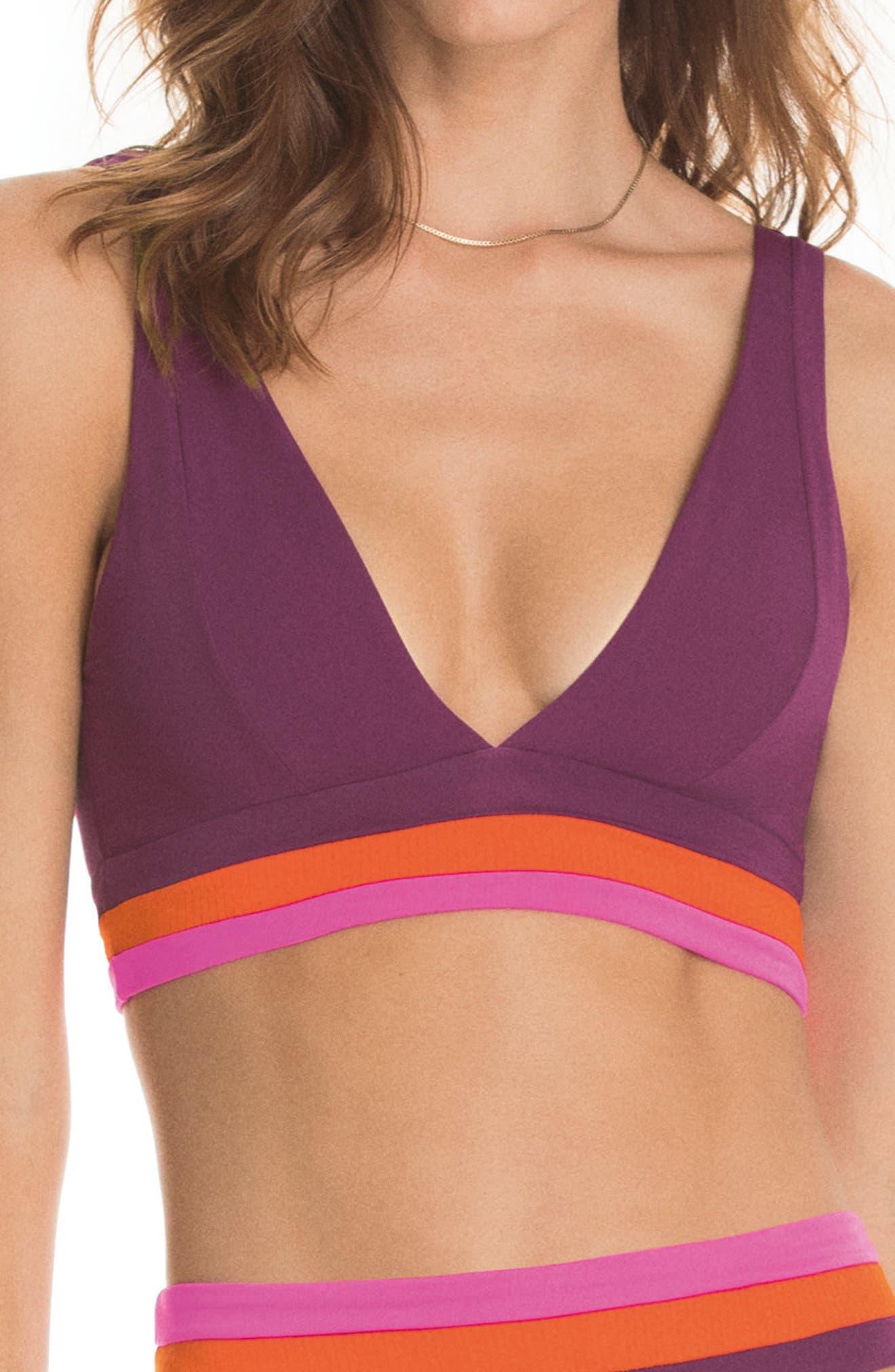 Vintage Grape Paradizzia Reversible Bikini Top