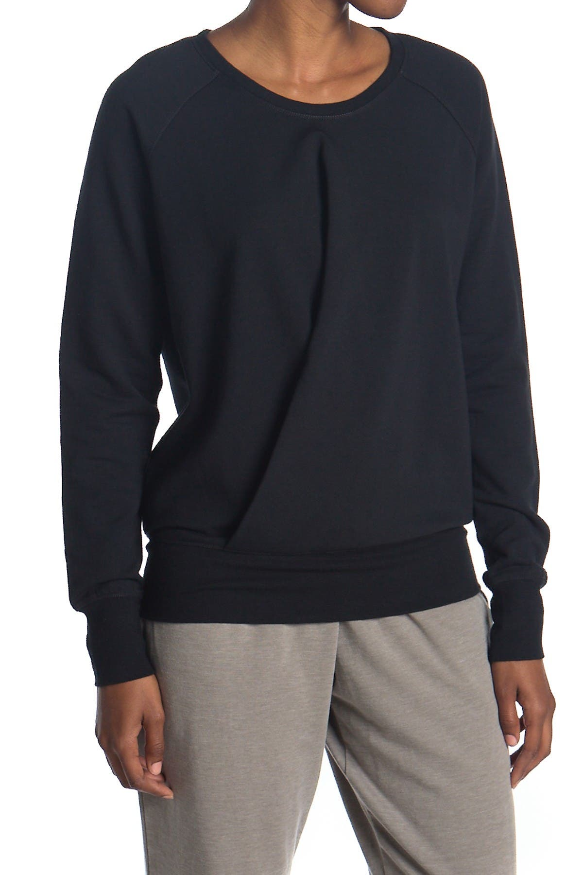 Image of Daniel Buchler Twist Crew Neck Sweatshirt