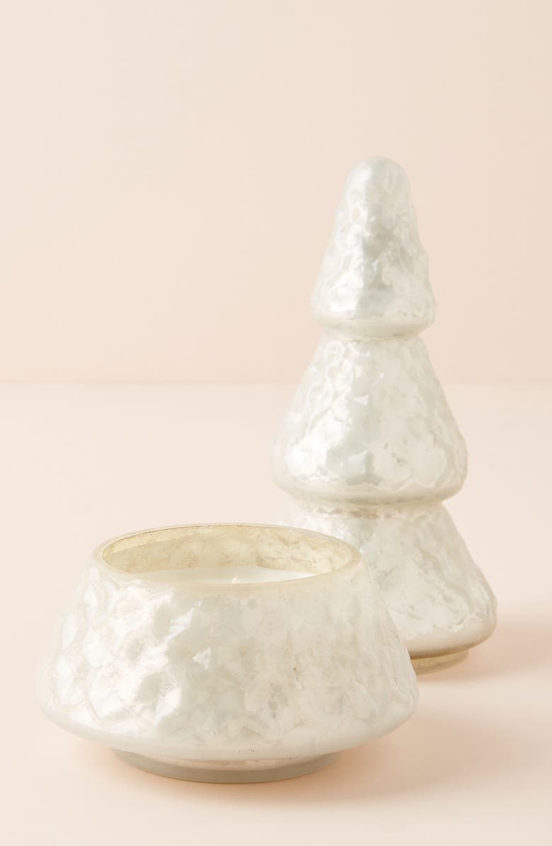ANTHROPOLOGIE Tall Christmas Tree Candle, Main, color, FIR AND FIREWOOD