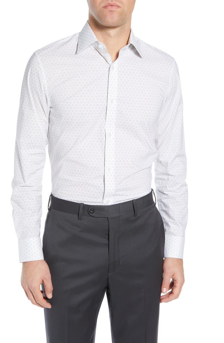 BONOBOS Slim Fit Dot Print Dress Shirt, Main, color, 410