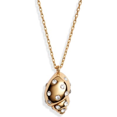 Kate Spade New York Under The Sea Studded Shell Pendant Necklace
