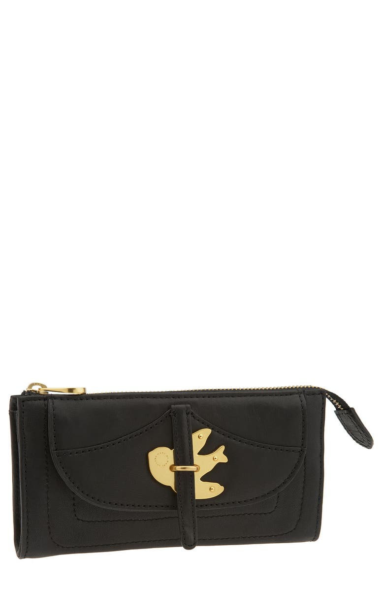 MARC JACOBS MARC BY MARC JACOBS 'Petal to the Metal' Zip Clutch Wallet, Main, color, 001