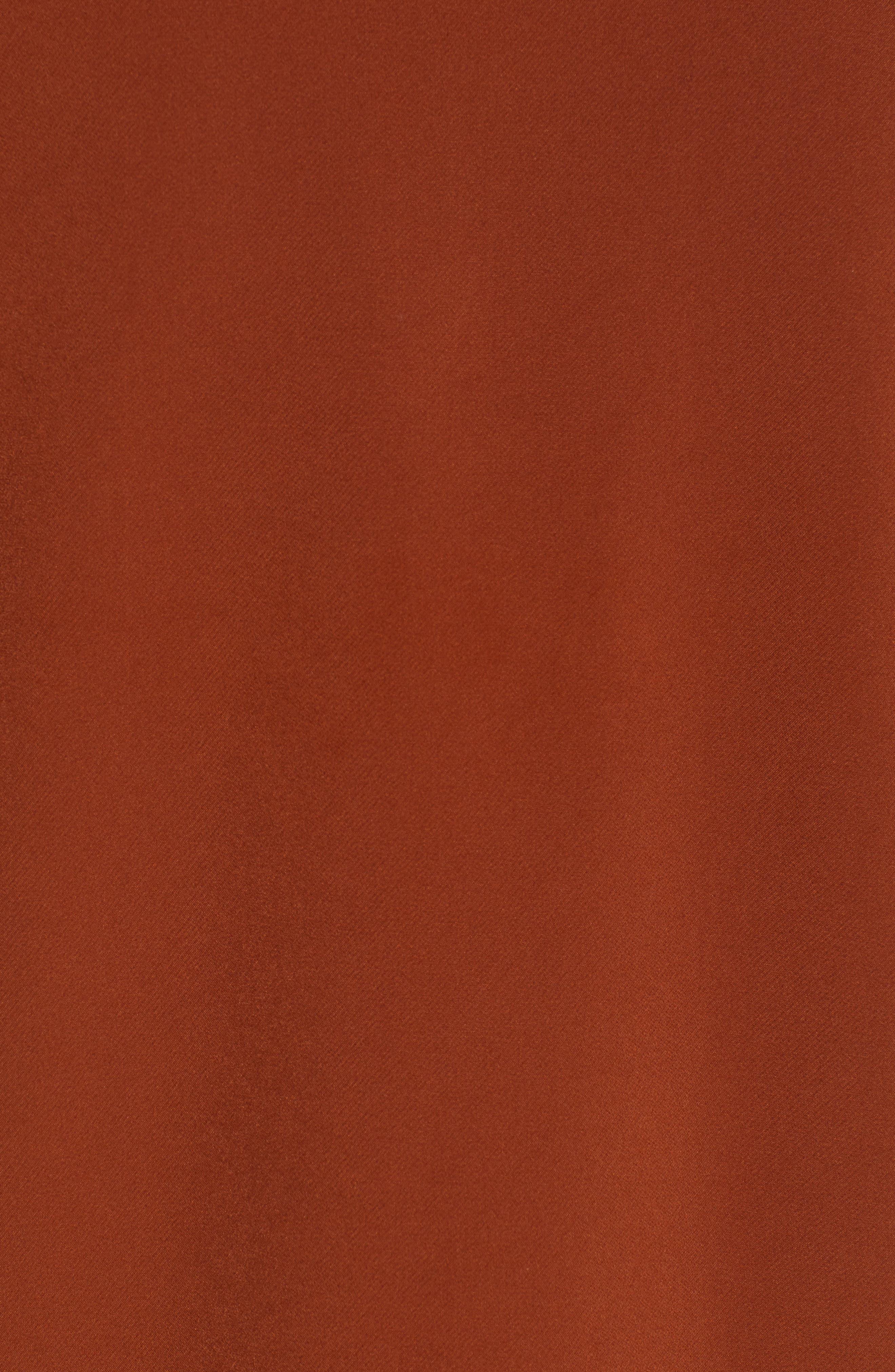 ,                             Crepe Oversize Car Coat,                             Alternate thumbnail 6, color,                             BRICK