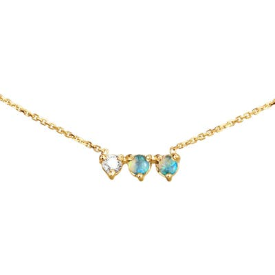 Wwake Bias Collection Three Points Frontal Necklace