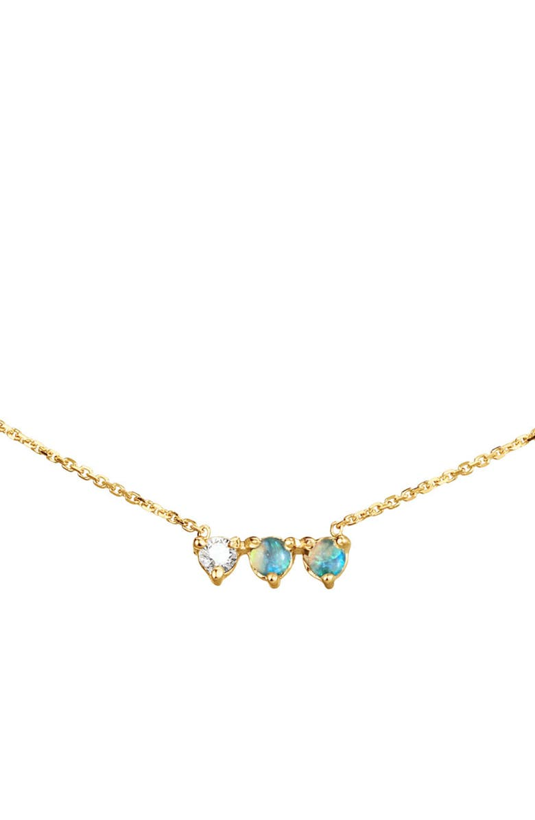 WWAKE Bias Collection Three Points Frontal Necklace, Main, color, YELLOW GOLD