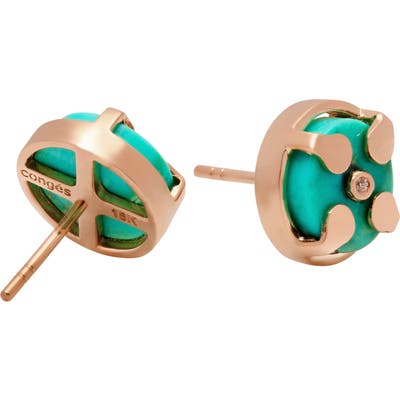 Conges Truth & Balance Turquoise Stud Earrings